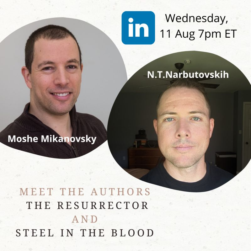 Live Podcast – Two Authors Chat with Nick Narbutovskih